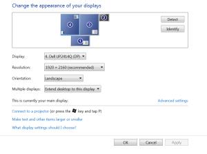 Windows 4K screen resolution