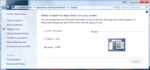 Windows 7 Display Settings