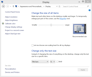 Windows 8.1 Scaling enhancements